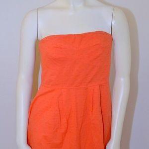4 Small J.Crew Orange Dress Strapless